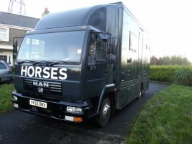 For sale: New build Nov. 2014, 7.5 horse lorry, Low milage.