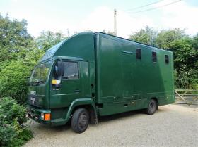 For sale: 7.5T Man 8153 1995 3 stall horsebox